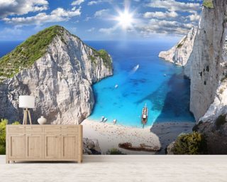 Navagio Beach, Zakynthos Mural Wallpaper Great Pictures