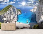 Navagio Beach, Zakynthos mural wallpaper living room preview