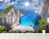 Navagio Beach, Zakynthos mural wallpaper in-room view