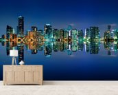 Miami Skyline wall mural living room preview