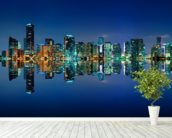 Miami Skyline wall mural in-room view