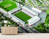 Turf Moor Aerial Photo wall mural living room preview