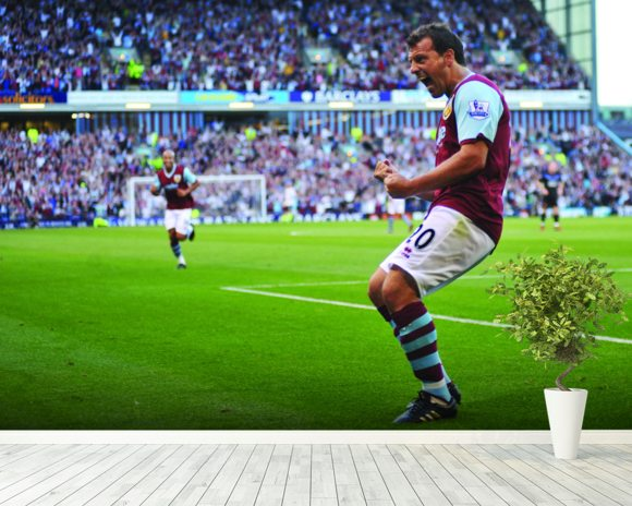 Robbie Blake Celebration, Burnley v Man Utd wallpaper mural room setting