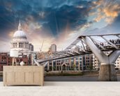 Millennium Bridge, London wallpaper mural living room preview