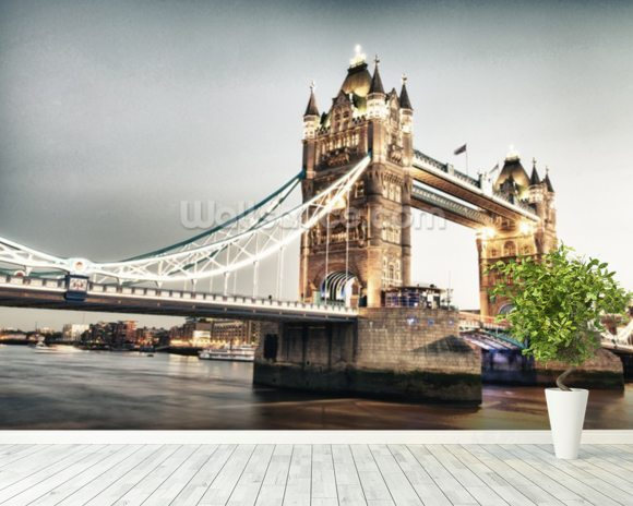 Tower Bridge wallpaper mural room setting