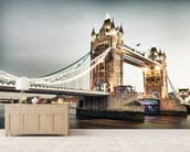 Tower Bridge wallpaper mural living room preview