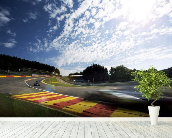 Radillion Corner, Spa-Francorchamps 2013 mural wallpaper room setting