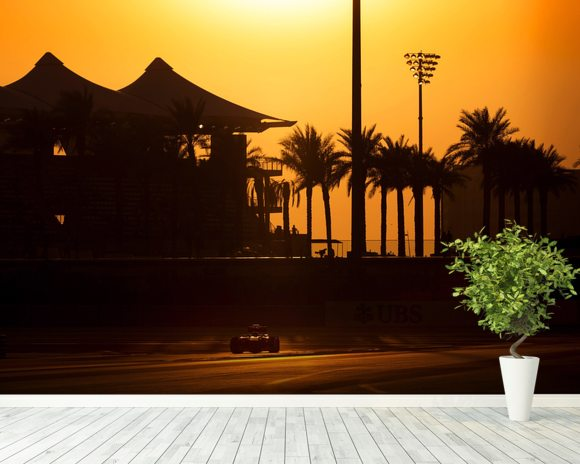 Abu Dhabi Sunset 2013 mural wallpaper room setting