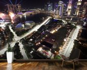 Marina Bay Street Circuit, Singapore (Portrait) mural wallpaper kitchen preview