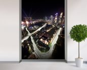 Marina Bay Street Circuit, Singapore (Portrait) mural wallpaper in-room view