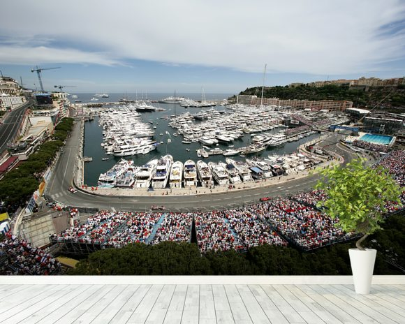 Monaco Grand Prix mural wallpaper room setting