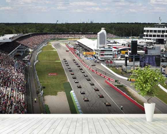 Grand Prix Start, Hockenheimring, Germany 2012 mural wallpaper room setting