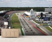 Grand Prix Start, Hockenheimring, Germany 2012 mural wallpaper living room preview