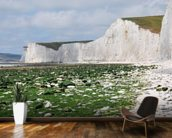 The White Cliffs of Dover mural wallpaper kitchen preview