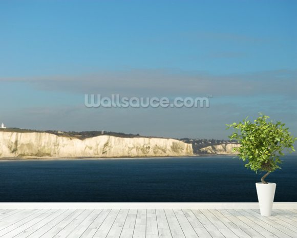 The White Cliffs at Dover mural wallpaper room setting