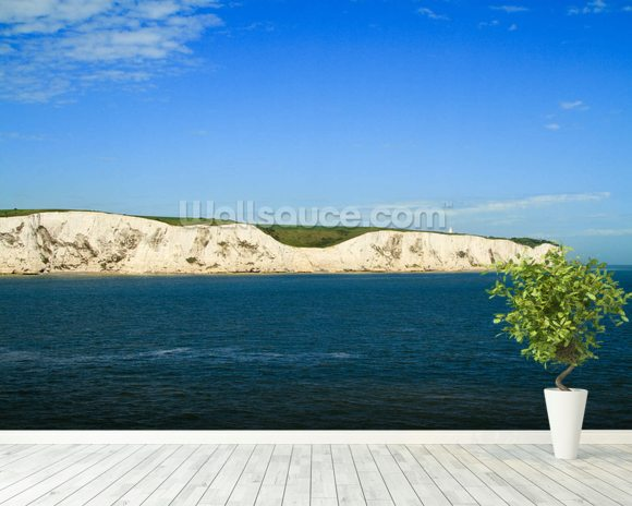White Cliffs of Dover Panoramic wall mural room setting