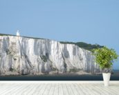 Cliffs at Dover mural wallpaper in-room view