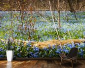 Spring Forest Flower Panoramic mural wallpaper kitchen preview