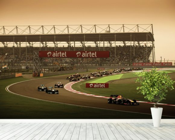 Indian Grand Prix 2013 wall mural room setting