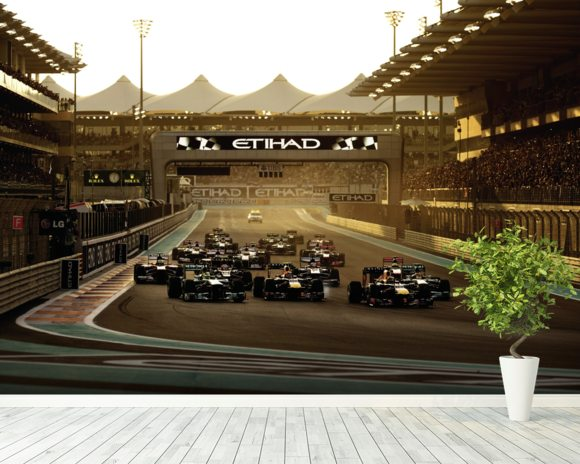 Abu Dhabi Grand Prix 2013 wallpaper mural room setting