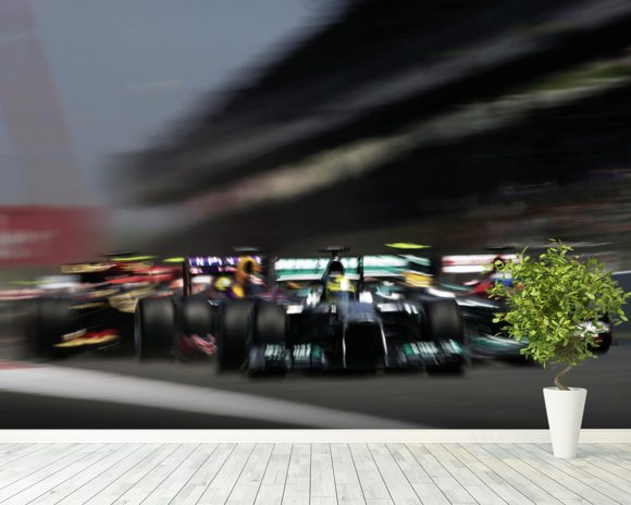 Spanish Grand Prix 2013 wallpaper mural room setting