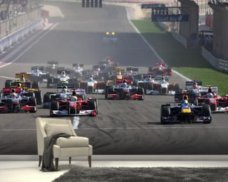 Start of the Bahrain Grand Prix 2010 wall mural