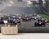 Start of the Bahrain Grand Prix 2010 wall mural living room preview