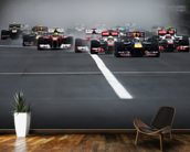 Hungarian Grand Prix 2011 mural wallpaper kitchen preview