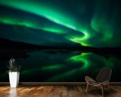 Northern Lights, Iceland mural wallpaper kitchen preview