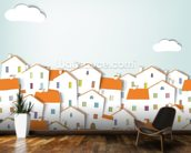 Panorama Town wall mural kitchen preview