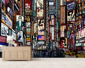 Times Square Abstract wallpaper mural living room preview