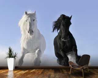 Horses in Snow Wallpaper Mural Wall Murals Wallpaper