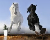 Horses in Snow wall mural kitchen preview