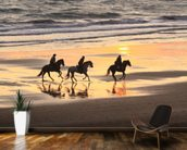 Sunset Horse Ride wallpaper mural kitchen preview