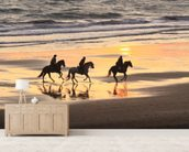 Sunset Horse Ride wallpaper mural living room preview