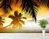 Caribbean Sunset wall mural in-room view
