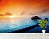 Maldives Sunrise wallpaper mural in-room view
