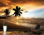 Palm Sunset mural wallpaper kitchen preview