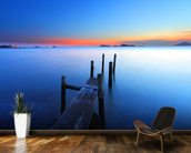 Wooden Jetty Sunset mural wallpaper kitchen preview
