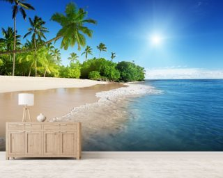 Caribbean Palms Wallpaper Wall Murals