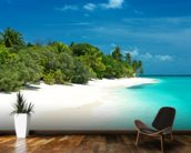 Beautiful Maldives Beach wallpaper mural kitchen preview