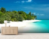 Beautiful Maldives Beach wallpaper mural living room preview