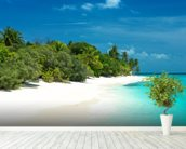 Beautiful Maldives Beach wallpaper mural in-room view