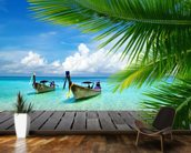 Tropical Sea View wallpaper mural kitchen preview