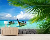 Tropical Sea View wallpaper mural living room preview