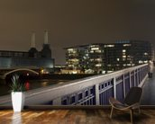 Battersea Power Station at Night mural wallpaper kitchen preview