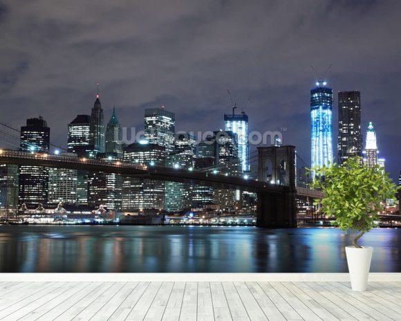 Brooklyn Bridge New York Wall Mural Room Setting Part 13
