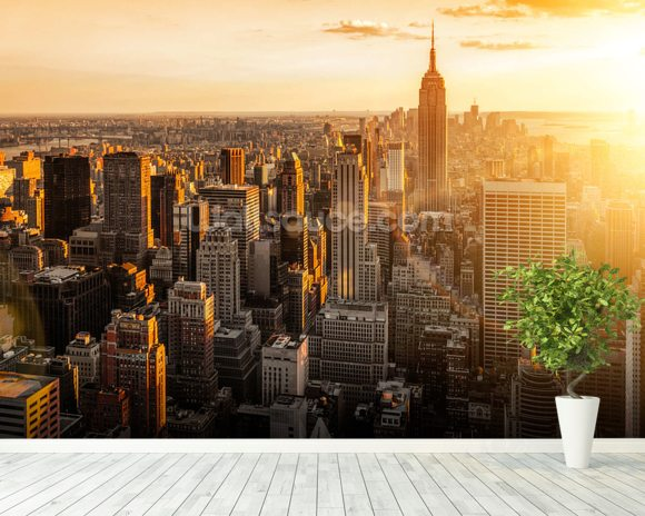 sunrise new york wallpaper wall mural wallsauce usa