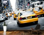 New York Cabs wall mural kitchen preview