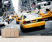 New York Cabs wall mural living room preview